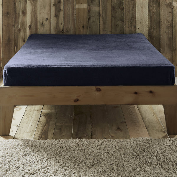 Teddy Fleece - Extra Soft 28cm Fitted Sheets & Pillowcases -  in Navy by Fusion