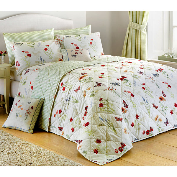 Country Journal Multicolour - Easy Care Floral Bedding & Curtains - by Dreams & Drapes