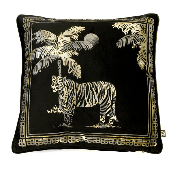 Tiger Tiger - Luxury Velvet Filled Cushion by Laurence Llewelyn-Bowen