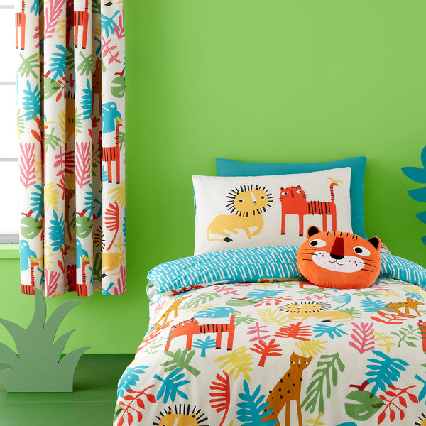 Tiger Tropics - 100% Cotton Children's Duvet Set & Curtains by Cosatto