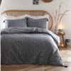 Trenton Spot - Relaxed Duvet Cover Set in Ink Blue - by Appletree Loft