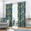 Tropical - 100% Cotton Lined Eyelet Curtains in Multicolour - by Fusion