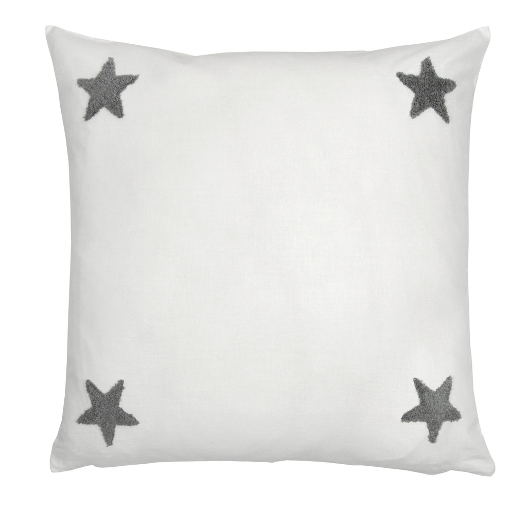 Tufted Star - Embroidered Filled Cushion  - by Appletree Signature