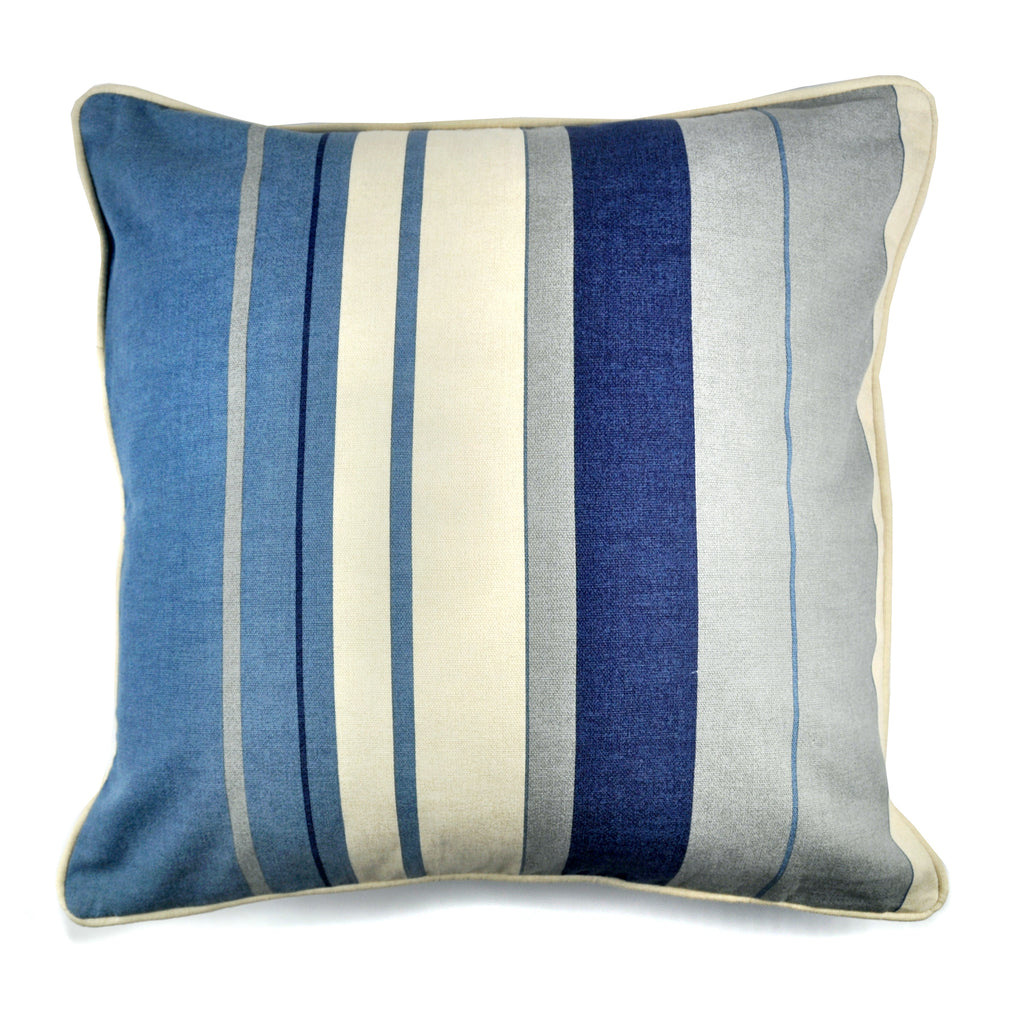 Whitworth Stripe- Filled Square Cushion - by Fusion