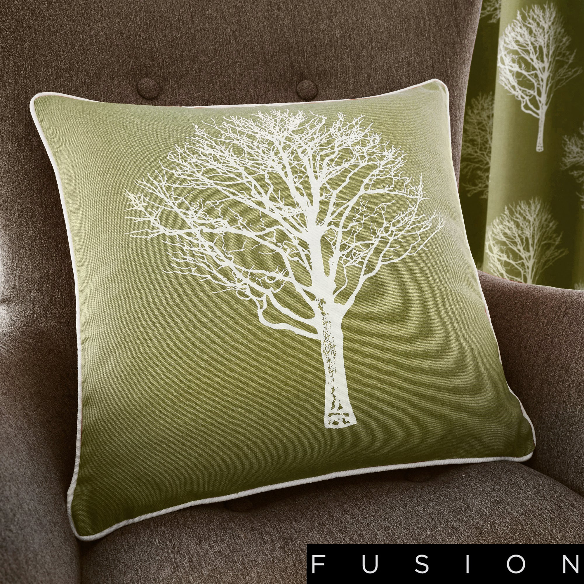 Woodland Trees - Filled Square Cushion - by Fusion