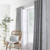Zara - Tufted Spots Pair of Eyelet Curtains in Silver - By Appletree Boutique