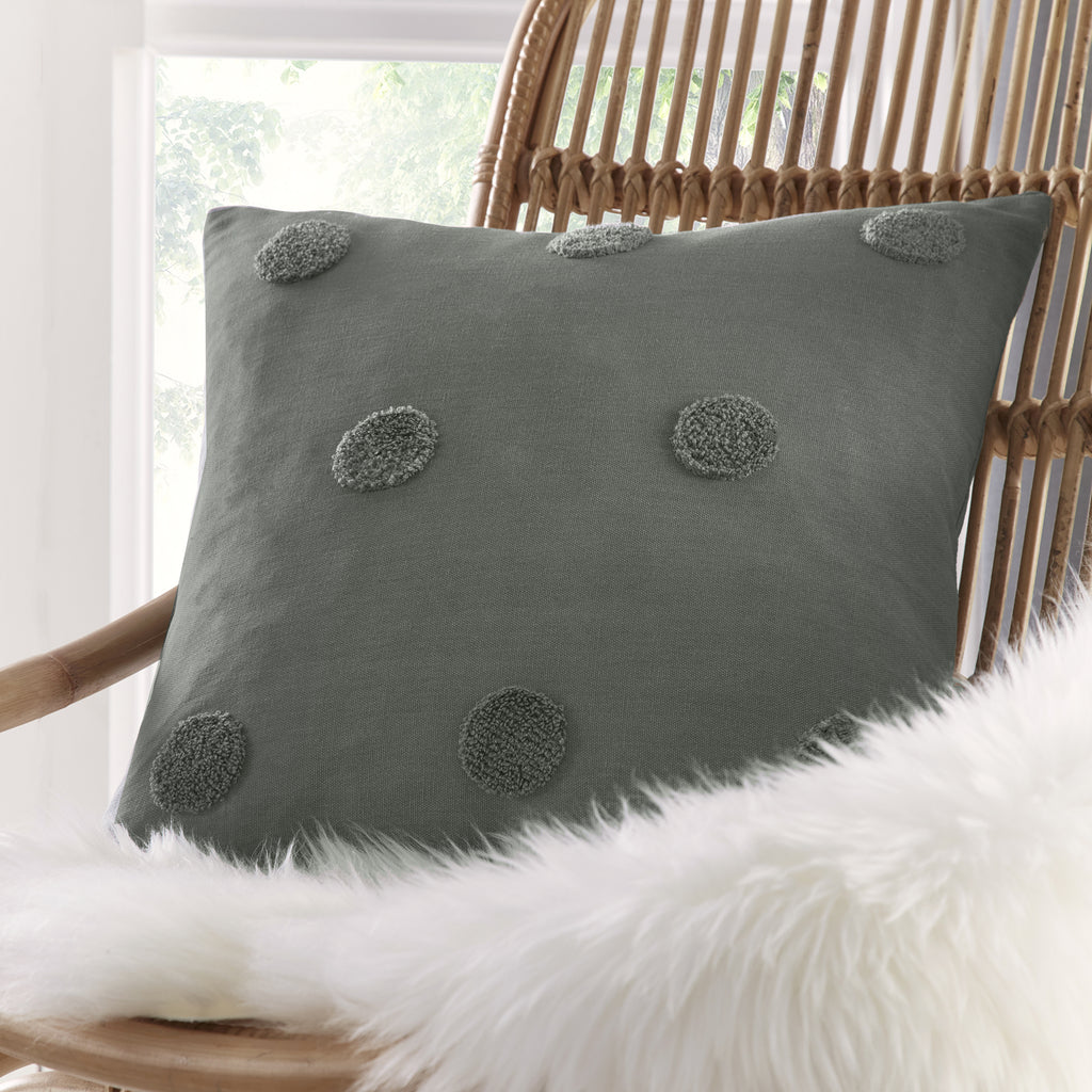 Zara - Tufted Spots Filled Cushion - by Appletree Boutique