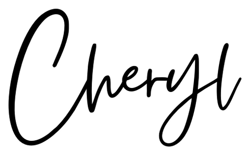 Cheryl (signature, owner Shelby Reef