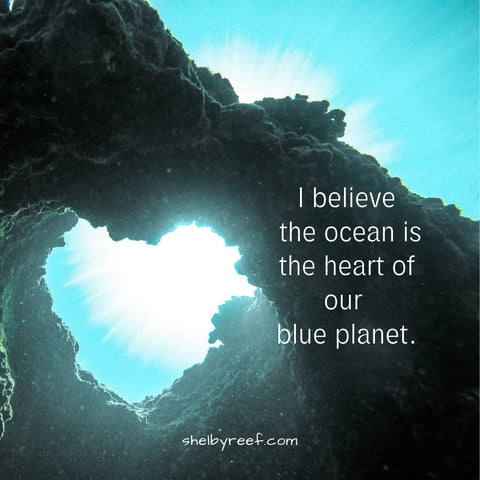 "Shelby Reef ""I believe the ocean is the heart of our blue planet"""