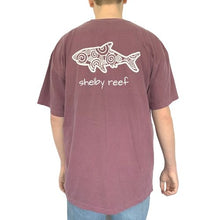 Load image into Gallery viewer, Adult Short Sleeve Pocket T-Shirt - Waves Berry