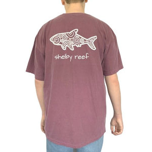 Adult Short Sleeve Pocket T-Shirt - Waves Berry