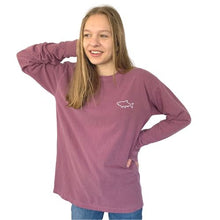 Load image into Gallery viewer, Adult Long Sleeve T-Shirt - Waves Berry