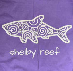 Adult Short Sleeve Pocket T-Shirt - Waves Violet