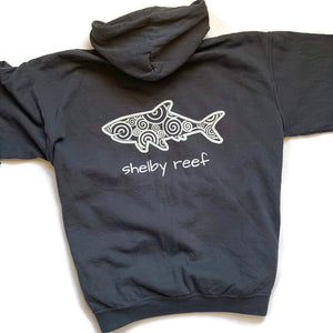 Adult Hooded Sweatshirt - Slate Waves