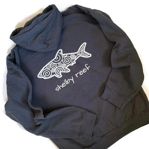 Adult Hooded Sweatshirt - Waves Pepper