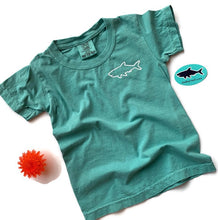 Load image into Gallery viewer, Youth Short Sleeve T-Shirt - Waves Seafoam