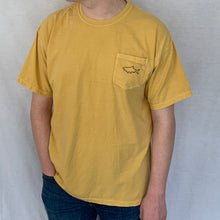 Load image into Gallery viewer, Adult Short Sleeve Pocket T-Shirt - Retro Mustard