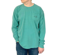 Load image into Gallery viewer, Adult Long Sleeve Pocket T-Shirt - Retro Seafoam