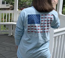 Load image into Gallery viewer, Adult Long Sleeve Flag Pocket T-Shirt - Chambray