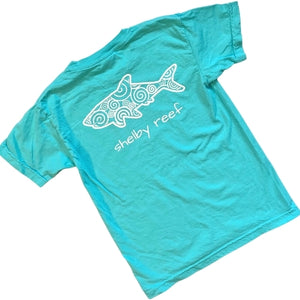 Youth Short Sleeve T-Shirt - Waves Lagoon Blue