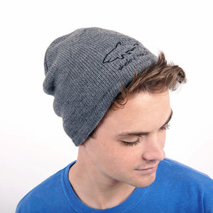 Fleece Lined Beanie - Gray
