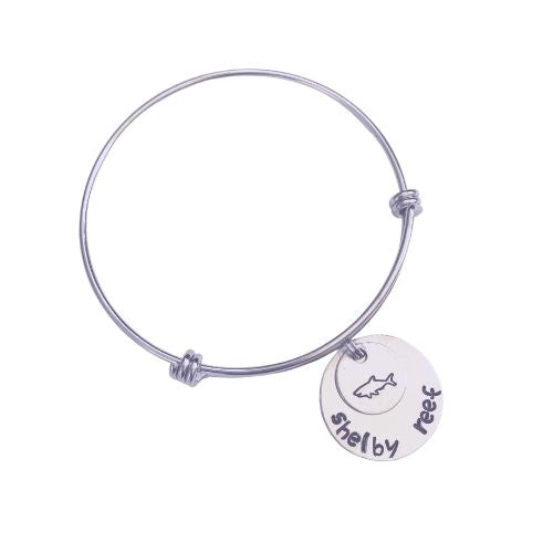 Hand Stamped Stackable Bracelet - Shelby Reef Logo
