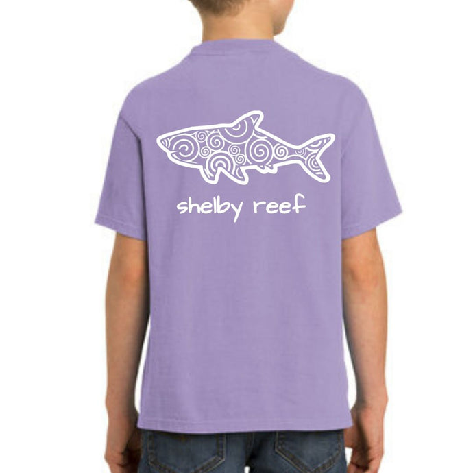 Youth Short Sleeve T-Shirt - Waves Violet
