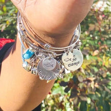 Load image into Gallery viewer, Hand Stamped Stackable Bracelet - Be the Change