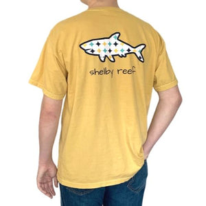 Adult Short Sleeve Pocket T-Shirt - Retro Mustard