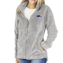 Load image into Gallery viewer, Ladies Fleece Full Zip Jacket Light Grey