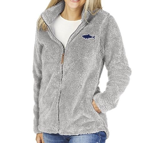Ladies Fleece Full Zip Jacket Light Grey