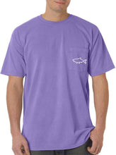 Load image into Gallery viewer, Adult Short Sleeve Pocket T-Shirt - Waves Violet