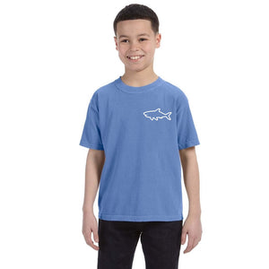 Youth Short Sleeve T-Shirt - Waves Flo Blue