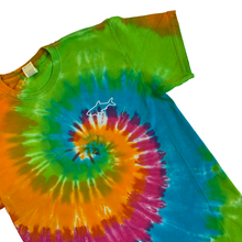 Load image into Gallery viewer, Adult Tie Dye Short Sleeve T-Shirt - Rainbow