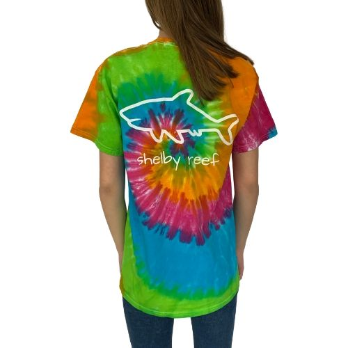 Adult Tie Dye Short Sleeve T-Shirt - Rainbow