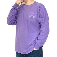 Load image into Gallery viewer, Adult Long Sleeve Pocket T-Shirt - Waves Violet