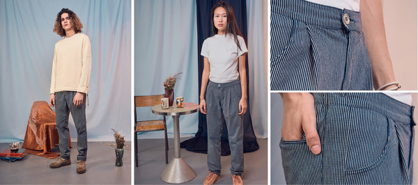 Pantalon Saul - Un denim à rayures confortable et adaptable