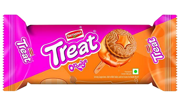 Britannia Treat Orange Creams 100g - grocerybasket.ca