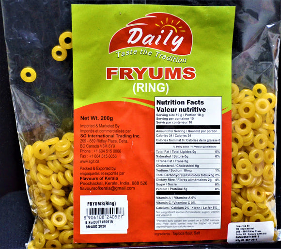 Fryums(Rings) <br>200g - grocerybasket.ca
