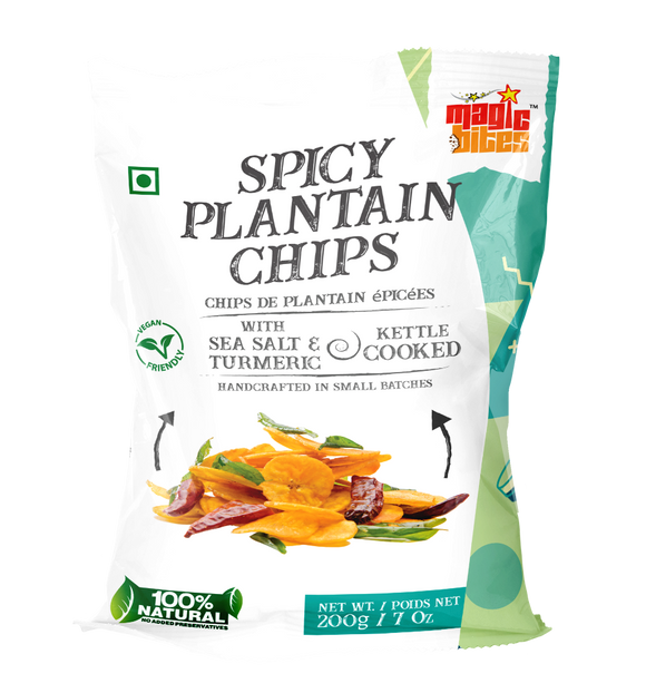 Magic Bites Spicy Plantain Chips 200g - grocerybasket.ca