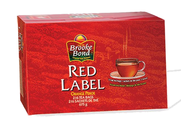 Brooke Bond Red Label - 216 Round Tea Bags