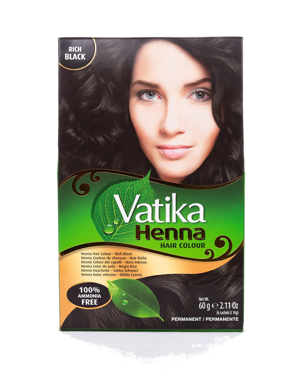 Vatika Henna Hair color 60g Rich Black - grocerybasket.ca