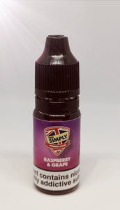 Vape Simply Raspberry and Grape 10ml 6mg