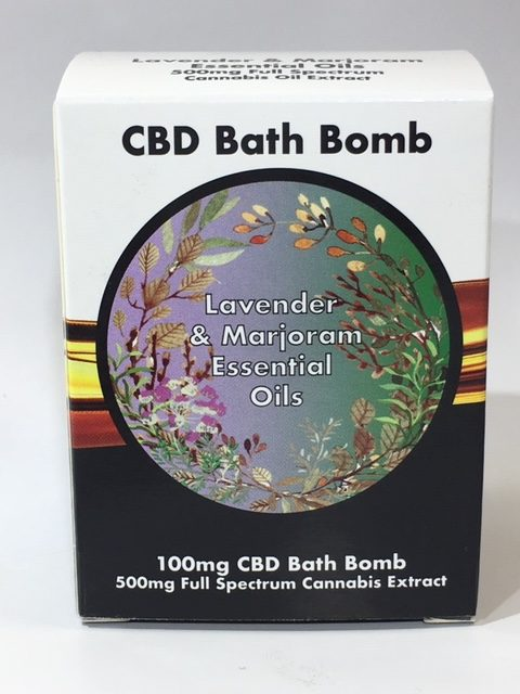 LVWell - CBD Bath Bomb - Lavender & Marjoram *NOT FOR USE WITH VAPE DEVICES