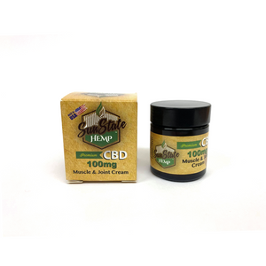 Sun State Hemp - CBD muscle & joint cream - 30ml - 100mg *NOT FOR USE WITH VAPE DEVICES