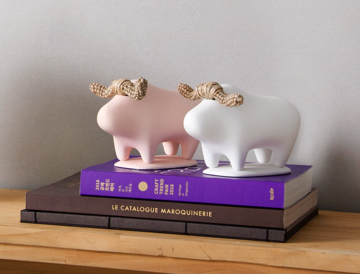 Pink playful buffalo animal decor that brings joy to your interiors