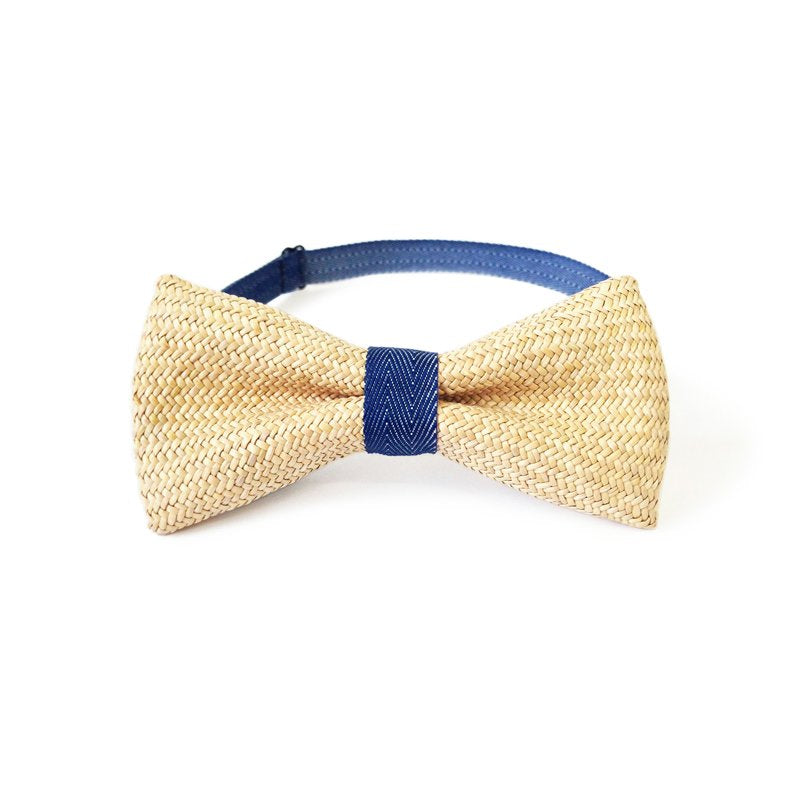 Rush Grass Bow Tie - Navy