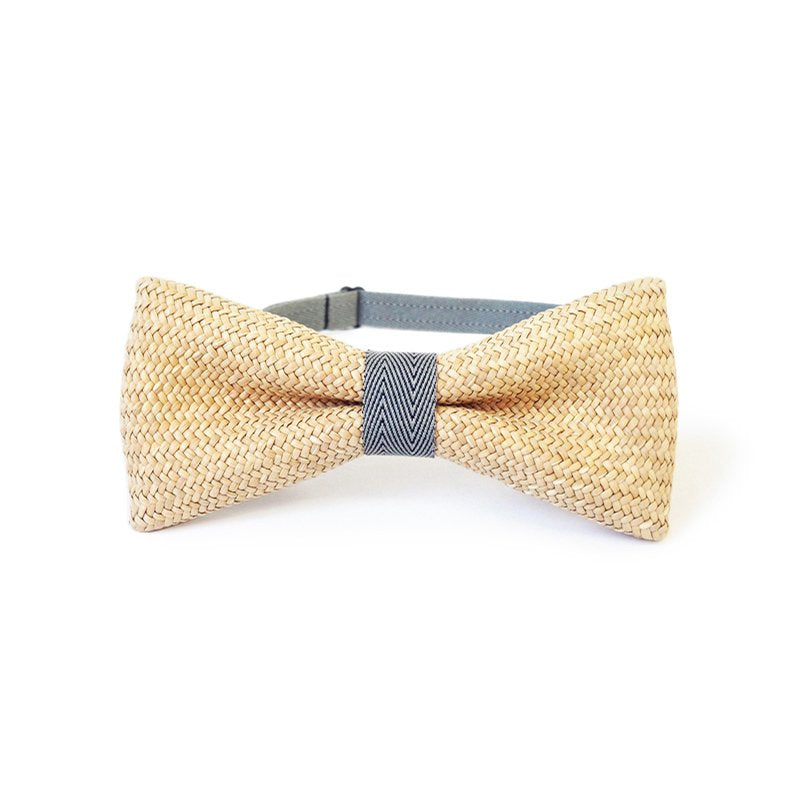 Rush Grass Bow Tie - Grey