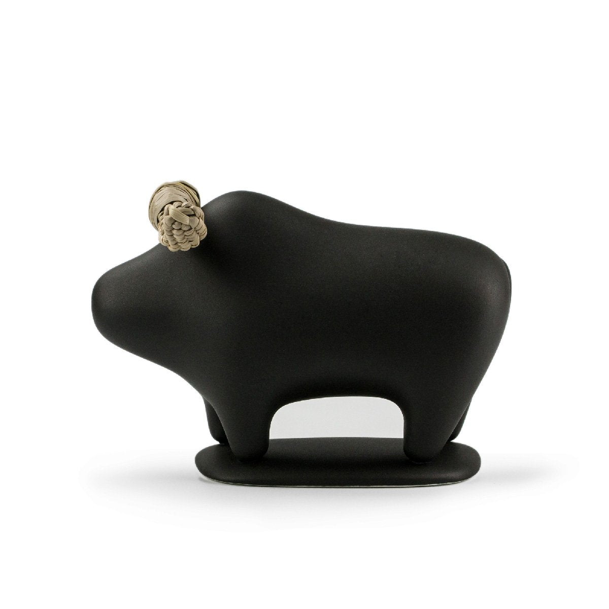 Black playful buffalo animal decor that brings joy to your interiors