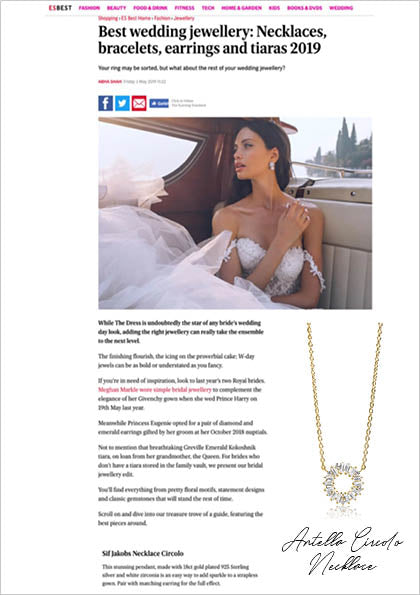 Sif Jakobs Jewelery Antella necklace in EVENING STANDARD - gold with white zirconia - wedding